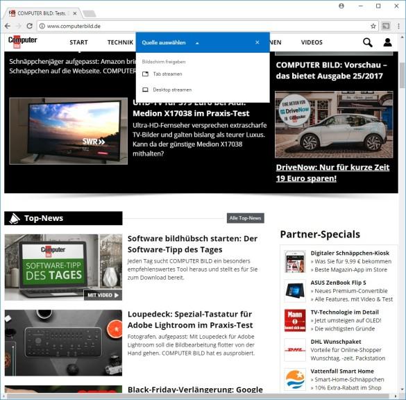 Screenshot 1 - Google Cast für Chrome