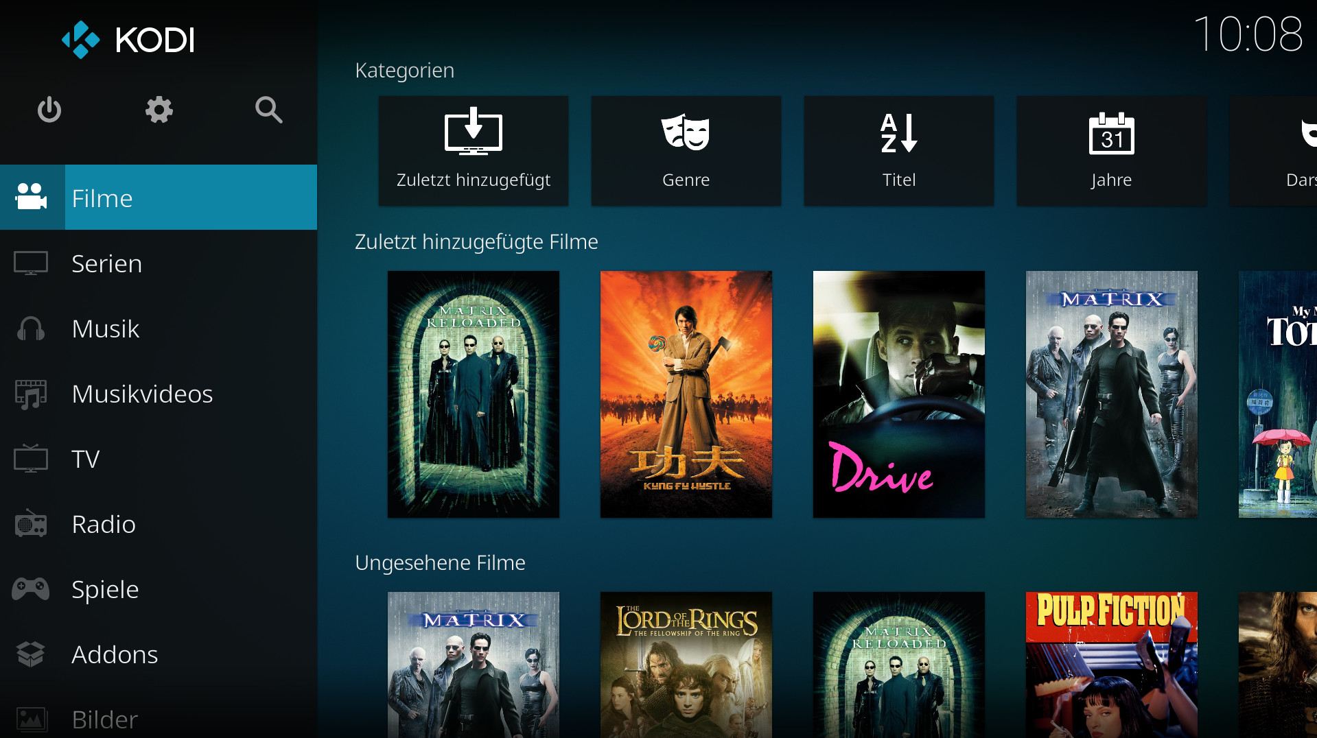 Screenshot 1 - Kodi (Linux)