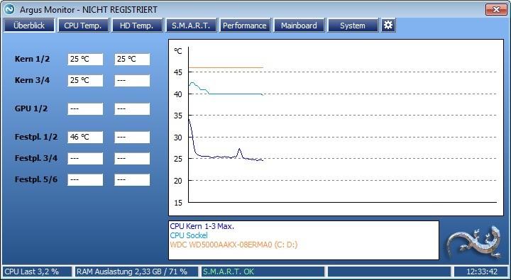 Screenshot 1 - Argus Monitor