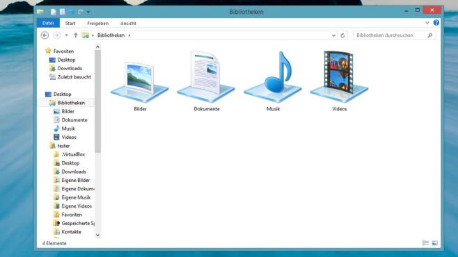 Windows 7/8: Automatische Datei-Sortierung dank Bibliotheken ©COMPUTER BILD