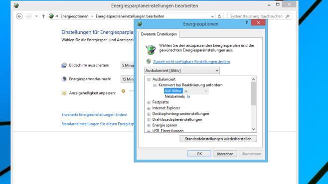 Windows 7/8: Energieoptionen deutlich aufgebohrt ©COMPUTER BILD