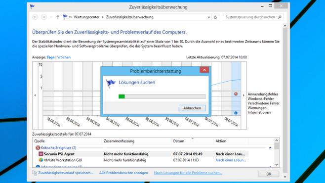Windows 7/8: Fehlerberichterstattung erscheint nicht ©COMPUTER BILD