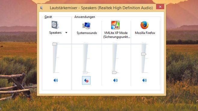 Windows 7/8: Lautstärke von Firefox & Co. anpassen ©COMPUTER BILD