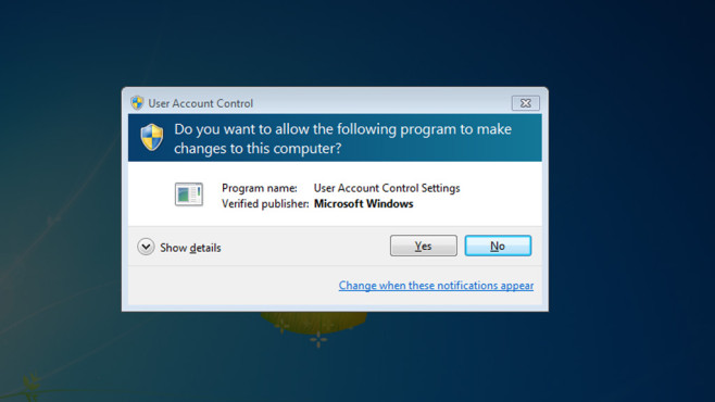Windows 7/8: Sichere Administrator-Konten dank UAC ©COMPUTER BILD