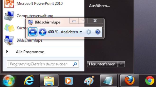 Windows 7/8: Tastenkombination für bessere Lesbarkeit ©COMPUTER BILD