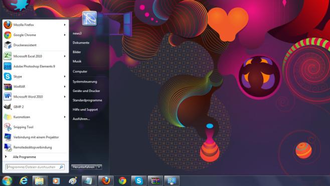 Windows 7/8: Vereinfachtes Startmenü mit Suchfunktion ©COMPUTER BILD