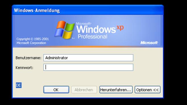 Windows XP: Administrator leben gefährlich ©COMPUTER BILD
