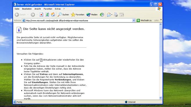 Windows XP: Beim Internet Explorer 8 ist Schluss ©COMPUTER BILD