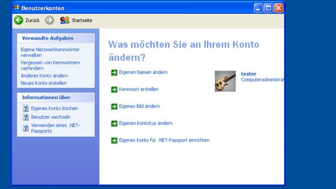 Windows XP: Benutzerbild umständlich austauschbar ©COMPUTER BILD