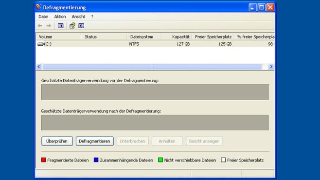 Windows XP: Defragmentierung oft wirkungslos ©COMPUTER BILD