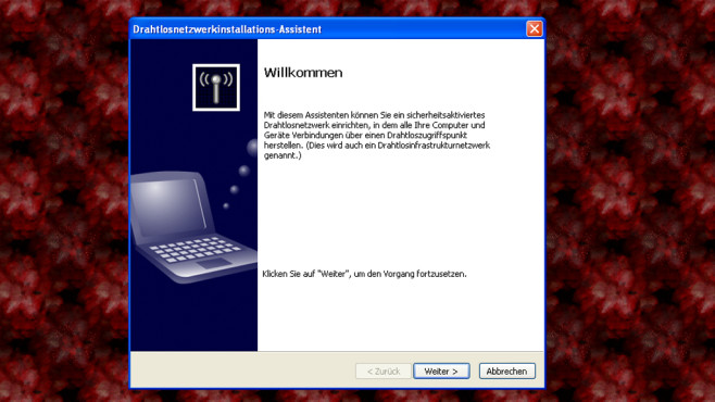 Windows XP: Kein modernes WPA2 © COMPUTER BILD