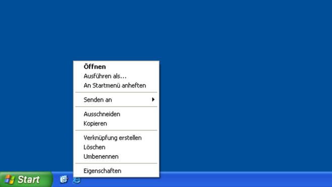 Windows XP: Programmfunktionen aufrufen ©COMPUTER BILD