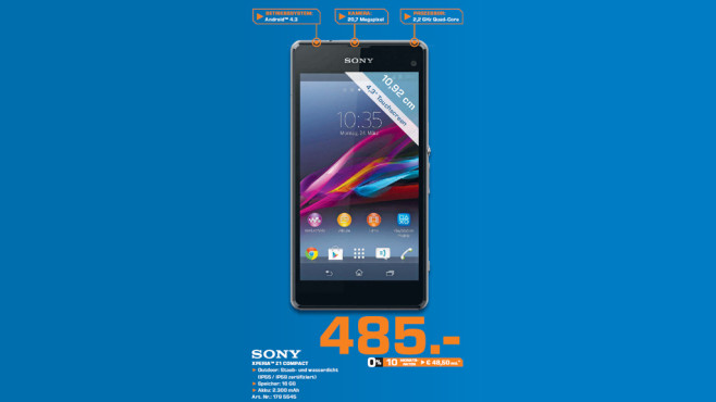 Sony Xperia Z1 Compact ©Saturn