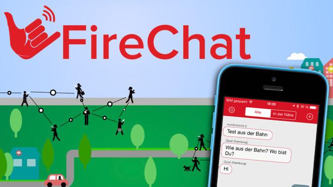 FireChat heißte eine neue Messenger-App fürs iPhone©Copyrights: OpenGarden, Apple