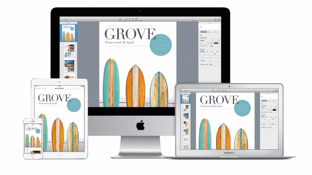 neue version apples office cloud paket iwork computer bild. Black Bedroom Furniture Sets. Home Design Ideas
