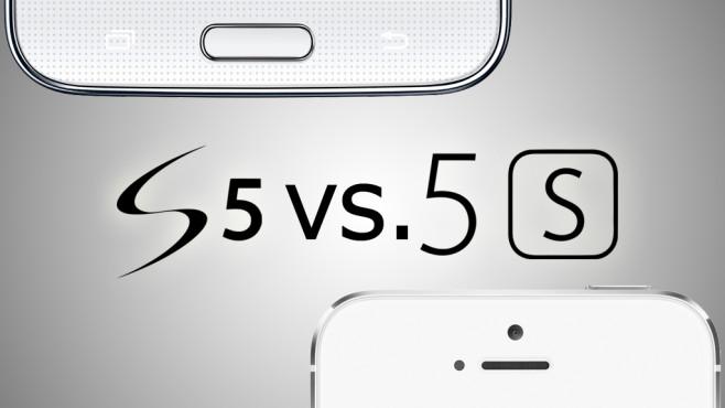 Galaxy S5 vs. iPhone 5S©Samsung/Apple