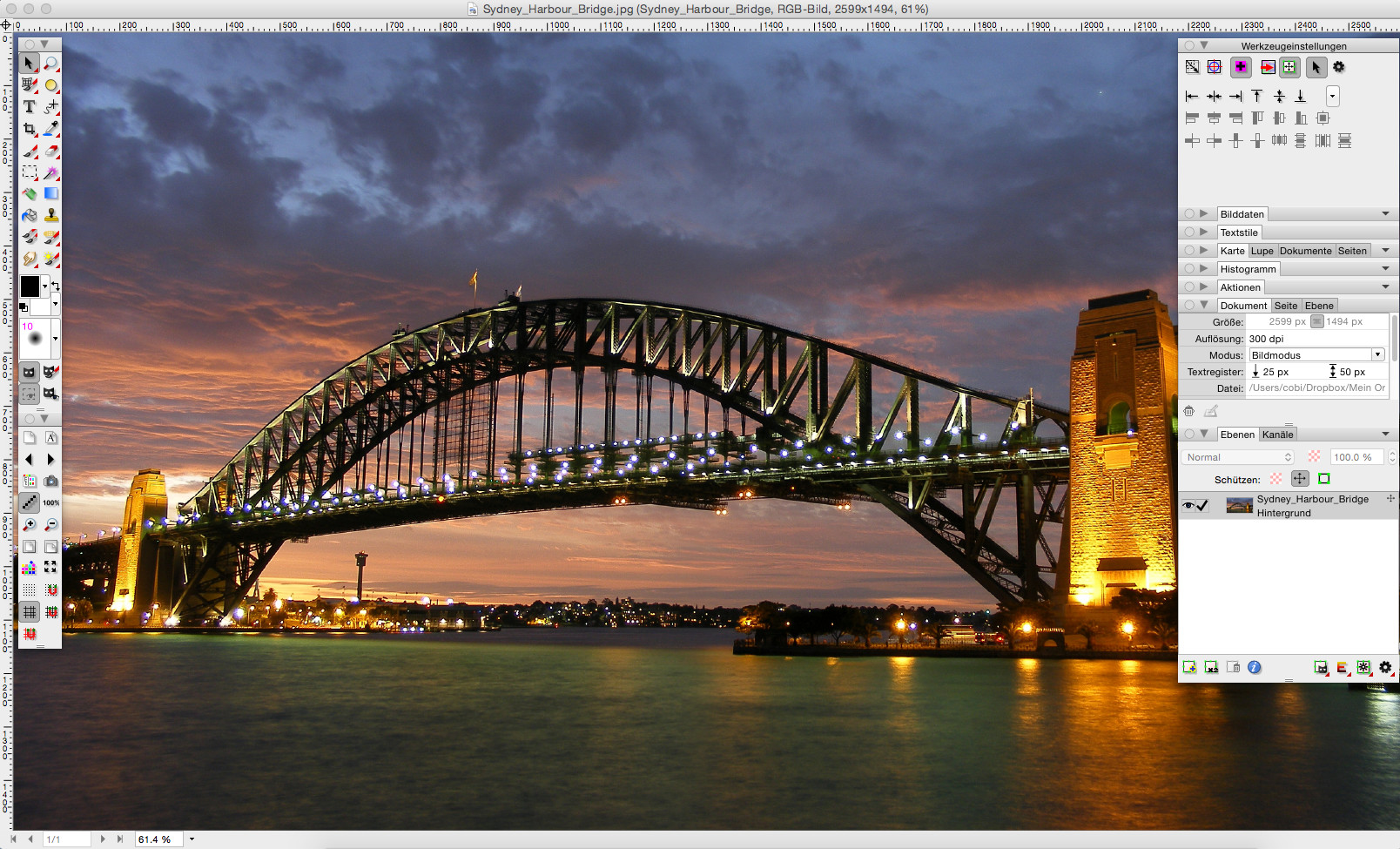 Screenshot 1 - PhotoLine (Mac)