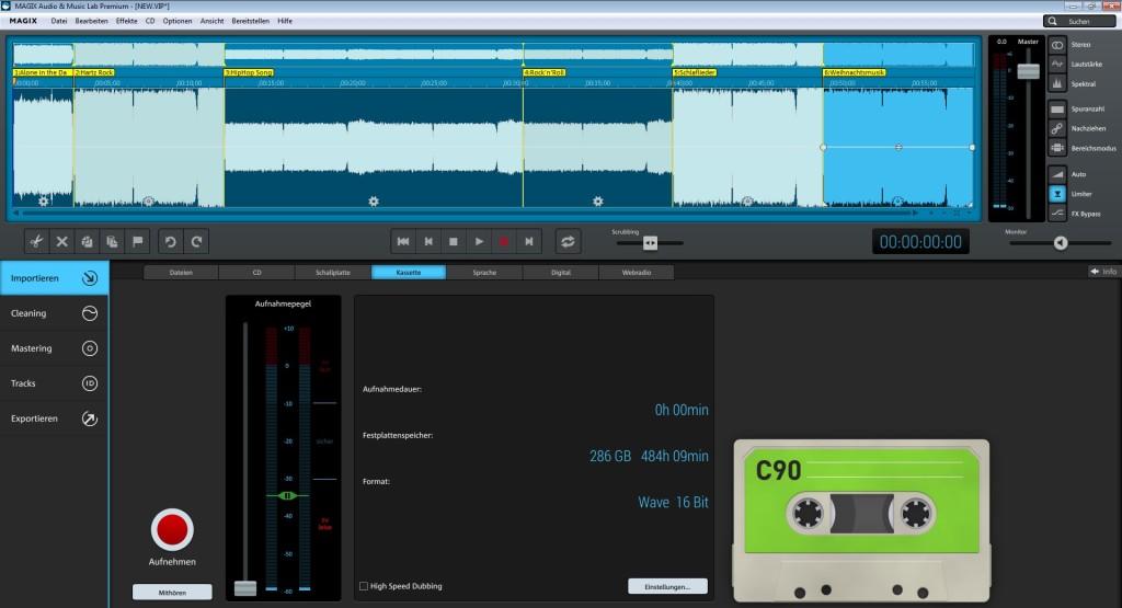 Screenshot 1 - Magix Audio & Music Lab Premium