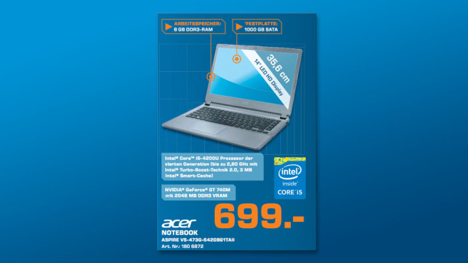 Acer Aspire V5-473G-54208G1 Taii ©Saturn