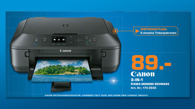 Canon MG 5550 Pixma ©Saturn