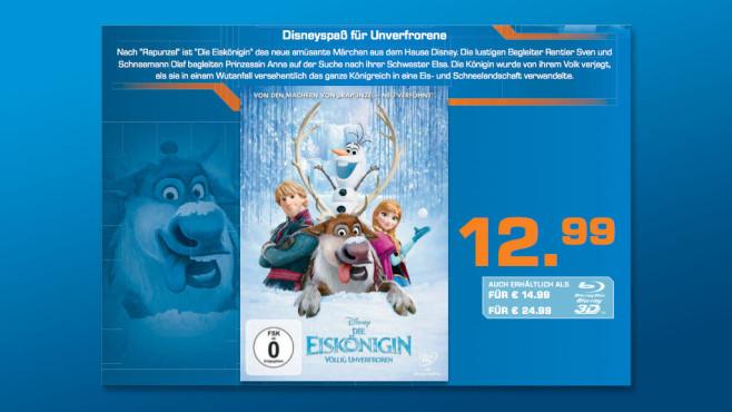 DVD: Die Eiskönigin ©Saturn