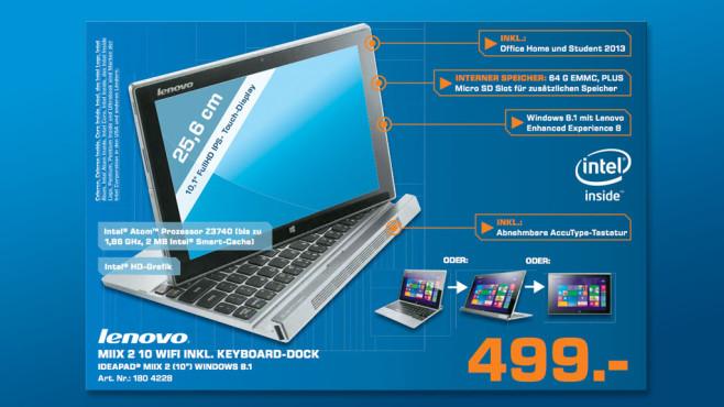 Lenovo IdeaTab Miix 2 10 ©Saturn