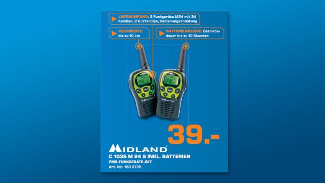Midland PMR-Funkgerät M24-S ©Saturn