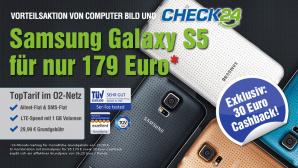 Galaxy S5 jetzt mit Allnet-Flatrate zum Knallerpreis bestellen©Sparhandy.de, HTC, O2