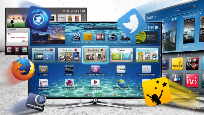 Smart-TV © Samsung, LG, Mozilla, Maxdome, ARD, Twitter, Watchever