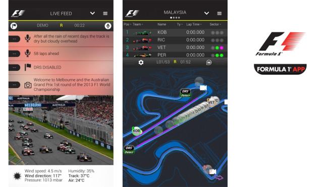 Official F1 App ©Formula One Digital Media Ltd
