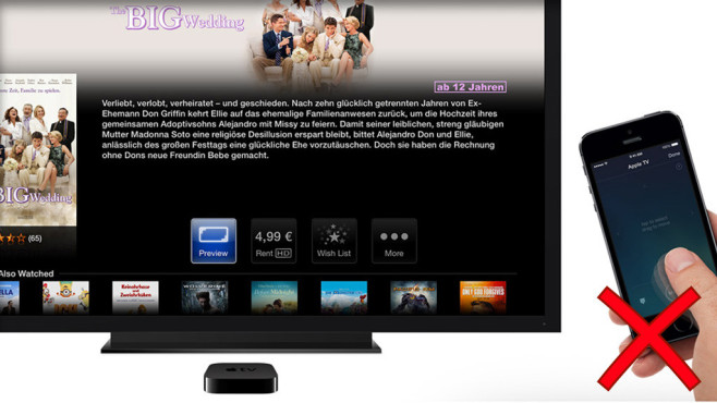 Sprachsteuerung: Apple TV ©Apple