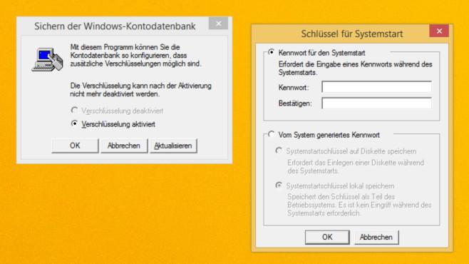 Windows 7/8/10: Syskey versieht Benutzerkonto mit zweitem Passwort©COMPUTER BILD