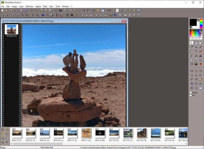 Screenshot 1 - PhotoFiltre Studio X