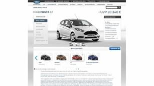 Modellauswahl im Ford-Konfigurator©Screenshot: ford.de