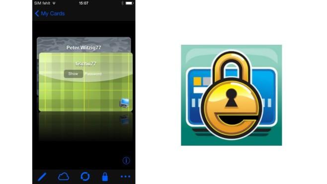 eWallet für iPhone ©Ilium Software
