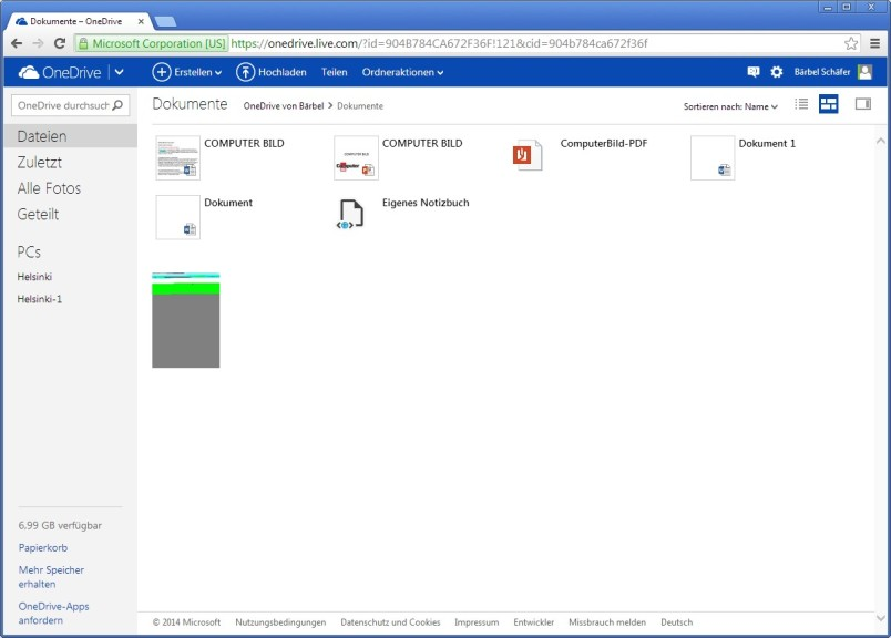 Screenshot 1 - Microsoft Office Online