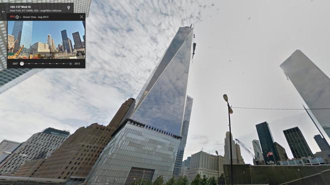 Zeitreise mit Google Streetview©Google