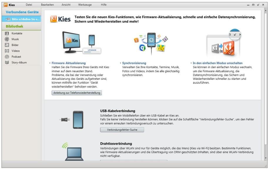 Screenshot 1 - Samsung Kies