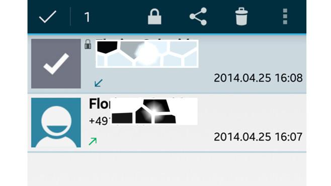 Call Recorder: Einstellungen für Benachrichtigungen (Notifications) ©Clever Mobile