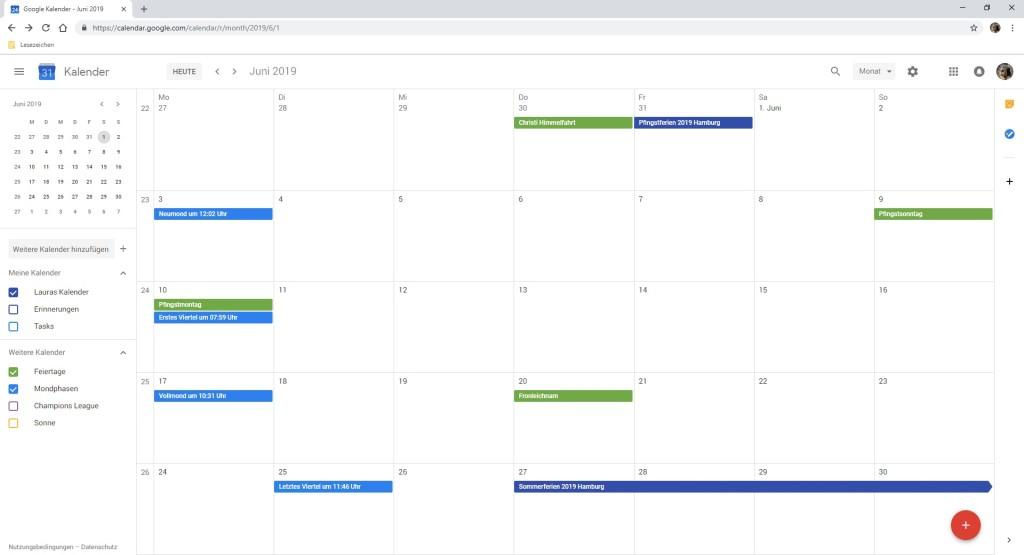 Screenshot 1 - Google Kalender (Google Calendar)