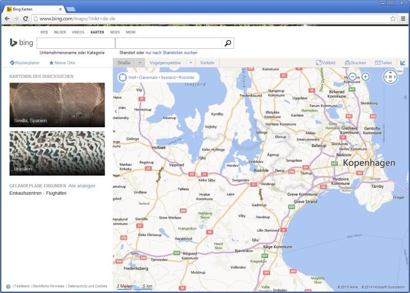 Screenshot 1 - Bing Karten