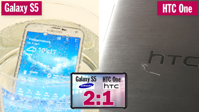 Samsung Galaxy S5 vs. HTC One M8 © COMPUTER BILD