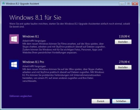 Windows Upgrade Advisor © COMPUTER BILD