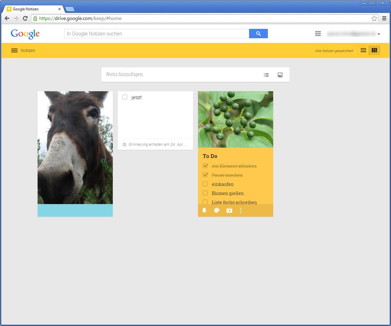 Screenshot 1 - Google Notizen (Keep)