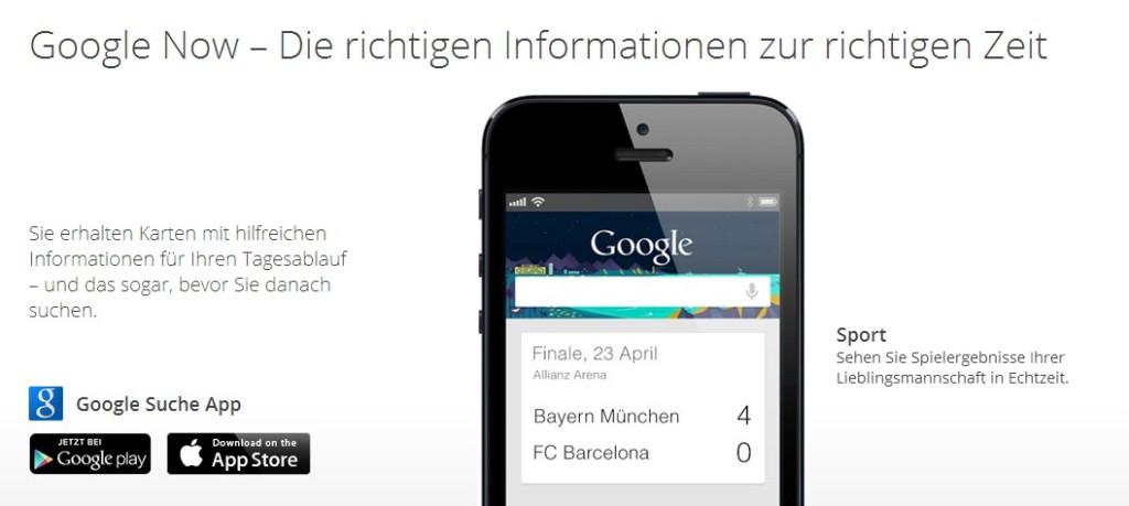 Screenshot 1 - Google Now