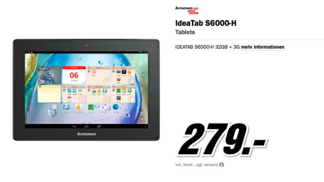 Lenovo IdeaTab S6000 32GB 3G © Media Markt