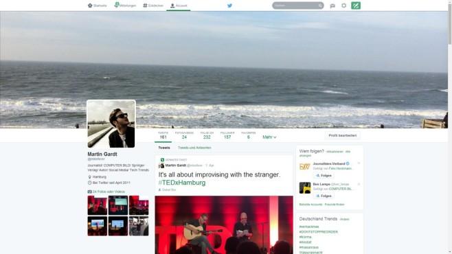 Das neue Twitter-Profil©Twitter / COMPUTER BILD