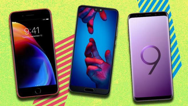 Die besten Tarife für die besten Smartphones©Samsung, Apple, Huawei
