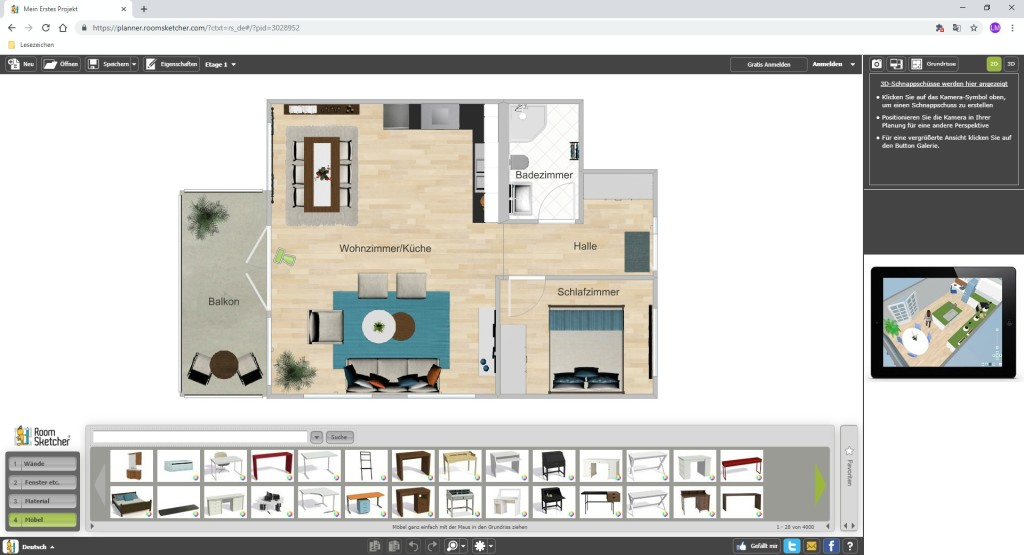 Screenshot 1 - RoomSketcher
