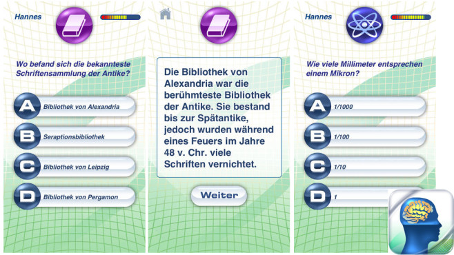 Wissenstraining Allgemeinwissen © the binary family